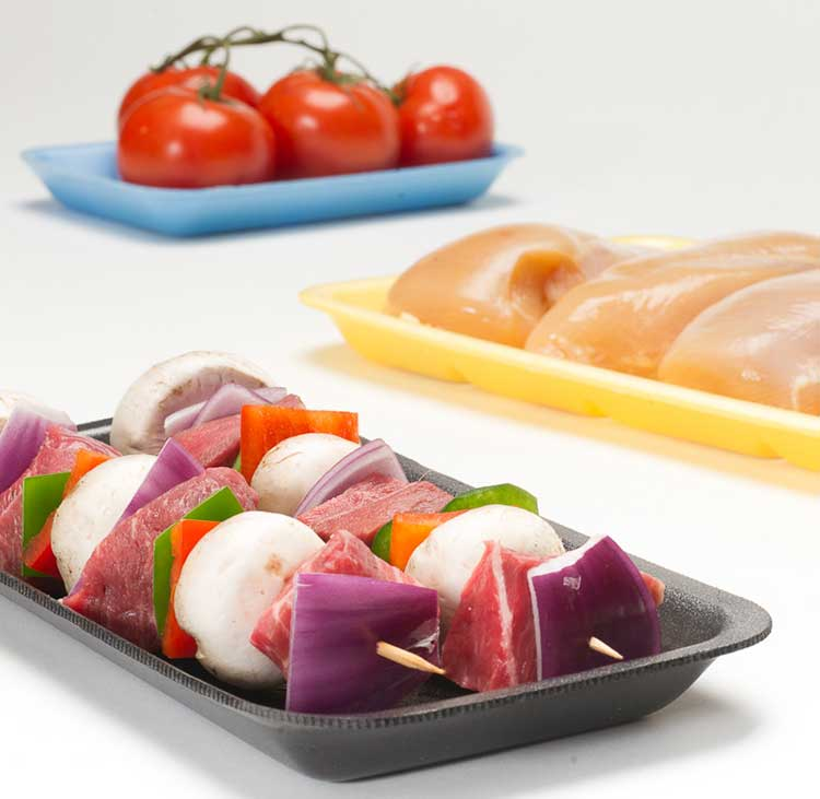 colorful food trays