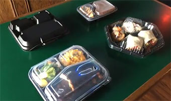 close-off compartment food containers