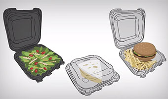 Clover food packaging container drawings