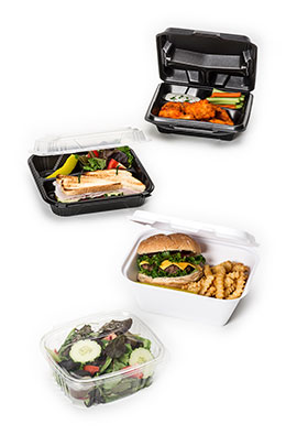 hinged food containers