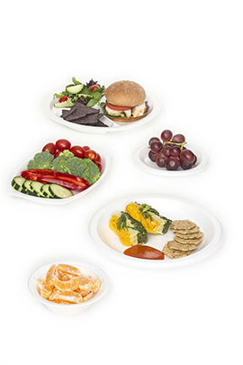 Plates And Bowls Plastic Foam Biodegradable  sc 1 st  Genpak : gourmet home products plastic plates - pezcame.com