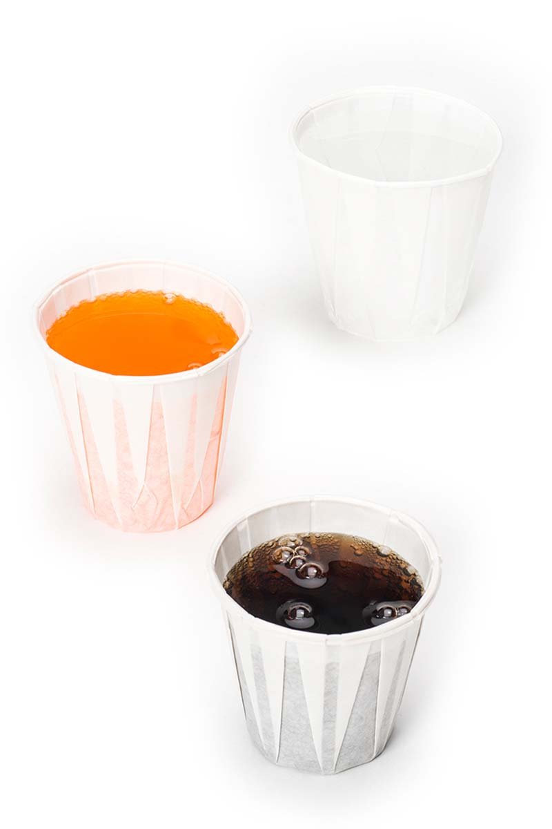 Paper pleated drinking cups