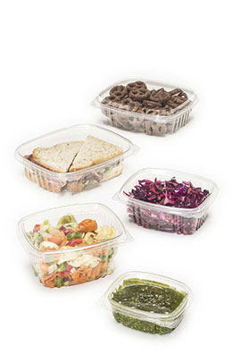plastic hinged deli containers
