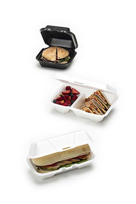 Foam containers perfect for snacks!