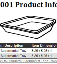foodservice product specs