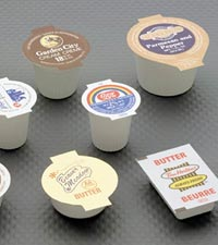 Plastic condiment cups