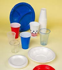 Foam dinnerware