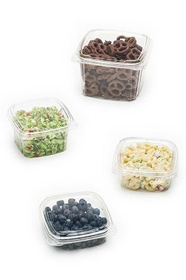 Clear Hinged Plastic Food Containers