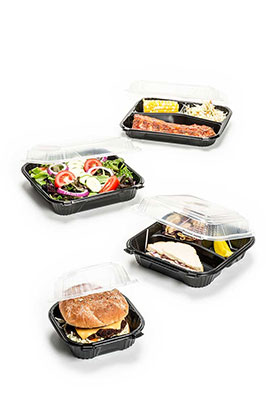 Microwave Safe Containers: Hinged And 2 Piece Containers