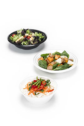 Foam and laminated rice bowls