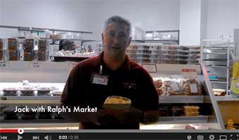 customer testimonial on supermarket containers