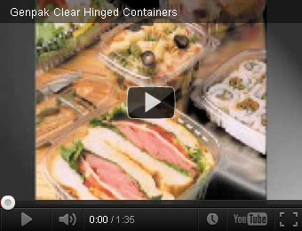 clear hinged food packaging
