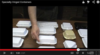 Specialty Foam Hinged Containers