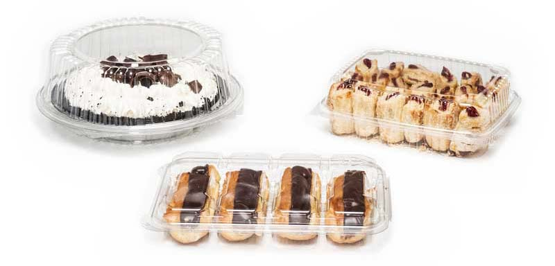 Clear Hinged Bakery Containers / Clamshell Containers