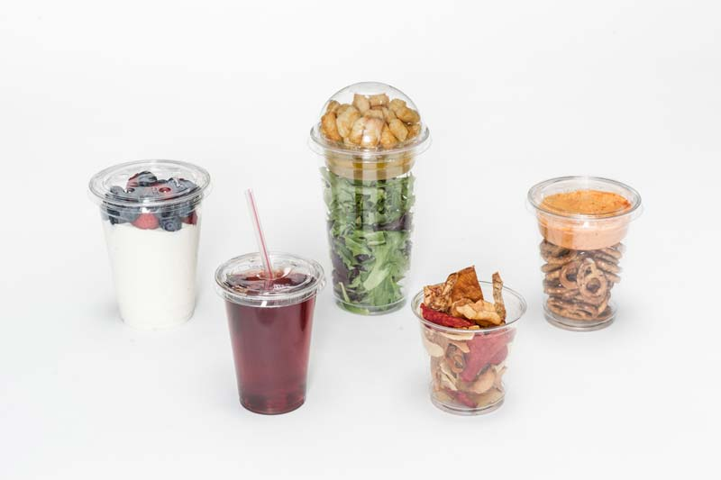 Clear Plastic Cups for Drinks, Snacks and Desserts