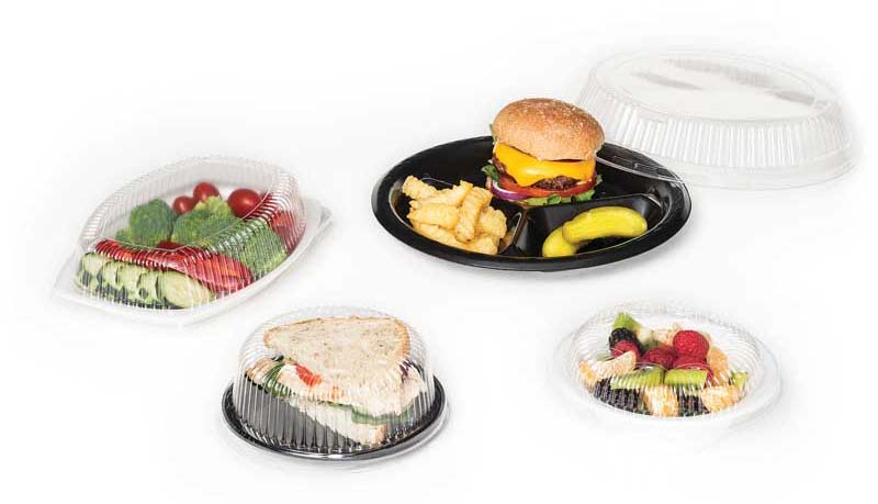 Clear Plastic Lids for Foam and Plastic Dinnerware