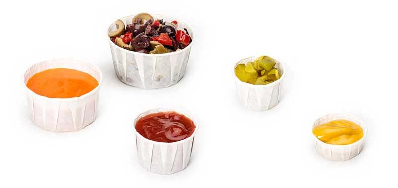 Harvest Paper Condiment Cups