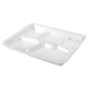 10500 - 5 Compartment Foam Serving Tray