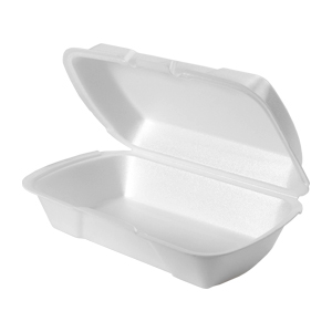 201ST - Medium, Shallow Foam Hinged All Purpose Container