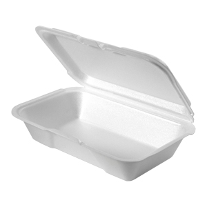 20400 - Small, Shallow All Purpose Foam Hinged Container