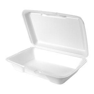 20600 - Large, Shallow All Purpose Foam Hinged Container