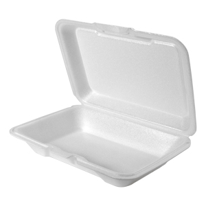 206SS - Large Super Shallow All Purpose Foam Hinged Container