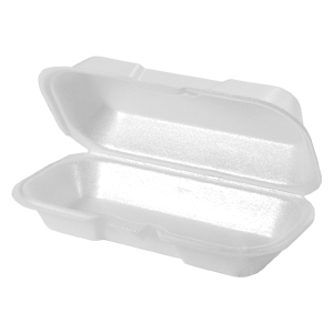 21100 - Hot Dog Foam Hinged Container