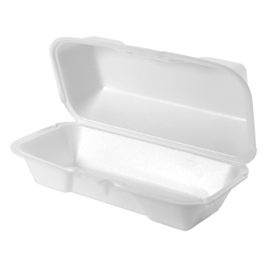 21600 - Medium Hoagie Foam Hinged Container