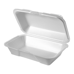 21700 - Small, Deep All Purpose Foam Hinged Container