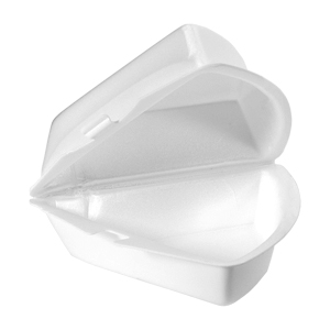 21800 - Dessert Wedge Foam Hinged Container