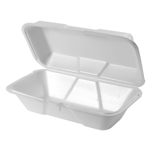 21900 - Large Hoagie Foam Hinged Container