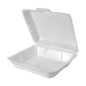 23000 - Medium, Hi-Volume Foam Hinged Dinner Container