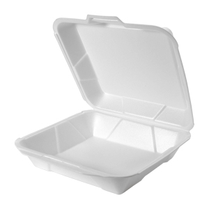 25000 - Jumbo Foam Hinged Dinner Container