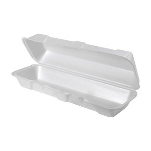 26600 - Extra Large Hoagie Foam Hinged Container