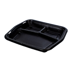 50310 - Large 3 Compartment Foam Serving Tray