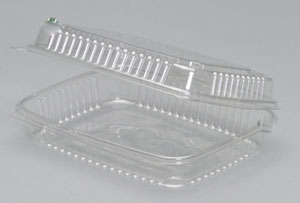 A7901 - Large Clear Hinged Container.  Not a stock item.  Minimum required