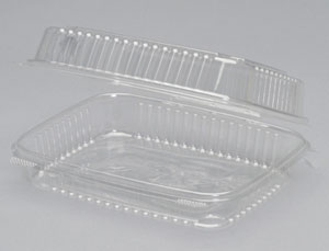 A7901D - Large, Deep Clear Hinged Container. Not a stock item.  Minimum required