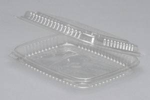 A7901S - Large, Shallow Clear Hinged Container. Not a stock item.  Minimum required