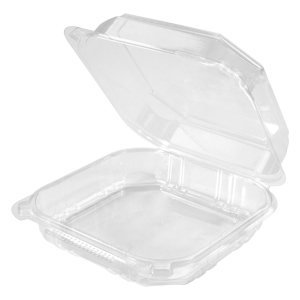 A8801 - Medium, Clear Hinged Container