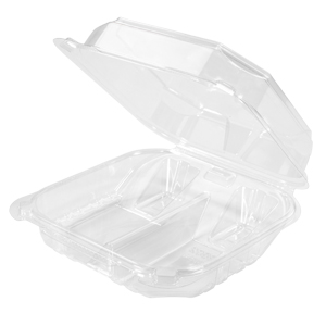 AS8802 - Medium, 2 Compartment Hinged Container