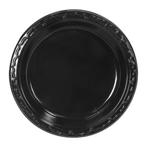 Product ID BLK09. Descrip 9\  Plastic Plate & Black Plastic Dinnerware: Plastic Plates Bowls And Platters