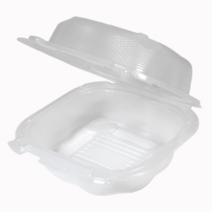 CLX225-CL - Large hinged sandwich container