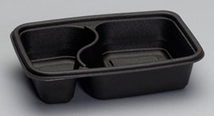 FPR232 - 2-Compartment Microwave Safe Container (18.75 oz. & 10.25 oz.)