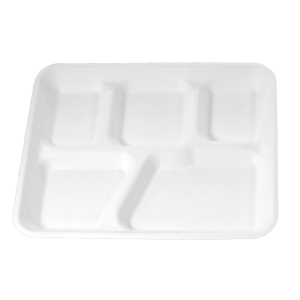 HF105 Compostable 5 Compartment School Tray