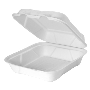 HF200 - Compostable Large Hinged Container