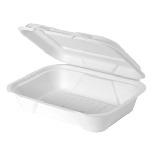 HF206 - Compostable Hinged Utility Container