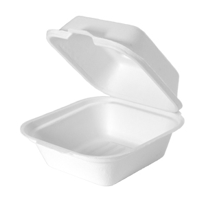 HF225 - Compostable Medium Hinged Sandwich Container
