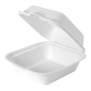 HF227 - Compostable Large Hinged Sandwich Container