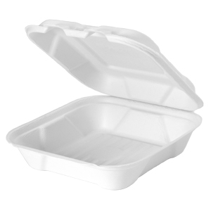 HF240 - Compostable Medium Hinged Container
