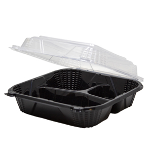 PV243 - Medium Hinged 3 Compartment Container